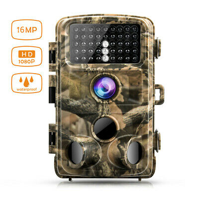 Campark Trail Camera 14MP HD 1080P Waterproof Hunting Game Cam Wild Night Vision
