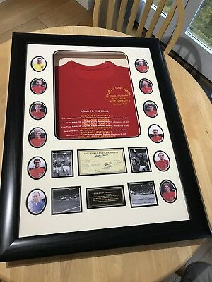 Framed 1966 World Cup Winners Shirt Presentation - Signed by 10 of England's Wor