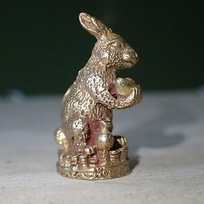Rabbit Statue Heavy Brass Buddha Amulet Fetish For Luck gambling Wealth