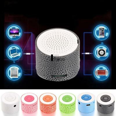 LED Mini Portable Wireless Bluetooth Speaker Outdoor USB Music Sound Play Deluxe