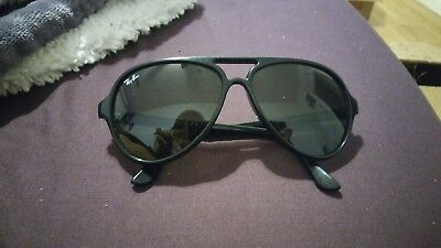 0c209771ee AUTHENTIC RAY-BAN - RB4125 CATS 5000 Black Aviator Sunglasses ...