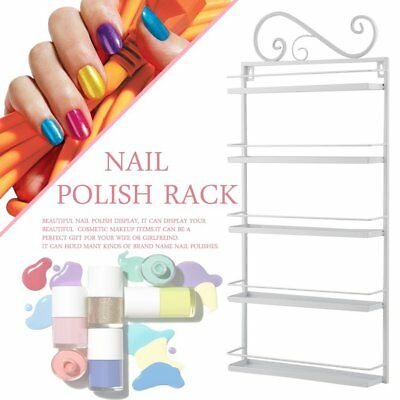 Nail Polish Rack Organizer Acrylic/Metal Makeup Holder Case Box Jewelry Storage