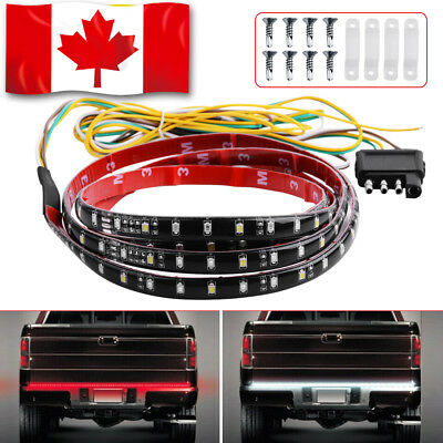"60"" Pickup Truck RV Flexible LED Tailgate Reverse Brake Turn Signal Light Strip"