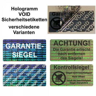 Hologram Void Seal Security Labels/Sticker on Roll - 30 x 15 MM