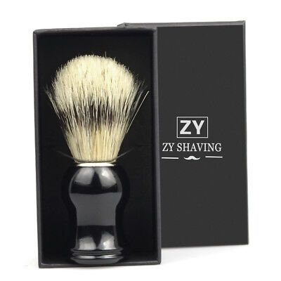 Classic Boar Bristle Beard Shaving Brushes Best Men Father Brother Gift With Box