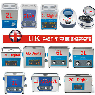 Digital Stainless Ultrasonic Cleaner Ultra Sonic Bath Cleaning Tank Timer Ce Uk