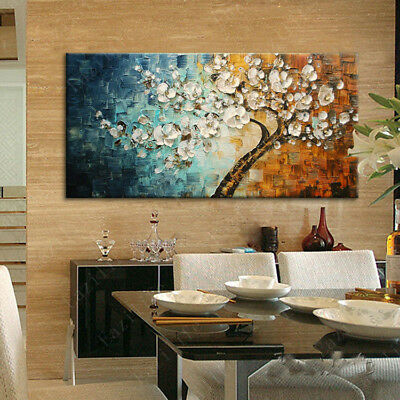 YASHENG ART - 3D Oil Painting Flowers, On Canvas Texture