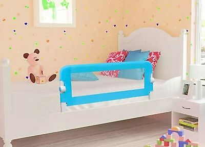 Blue Bed Rail Single Safety Guard For Baby Infant Cot Side Mesh Barrier Kids NEW