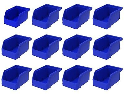 "12 Pack 5 3/8"" x 4 1/8"" x 3"" Plastic Inventory Storage Stacking Shelf Parts Bins"