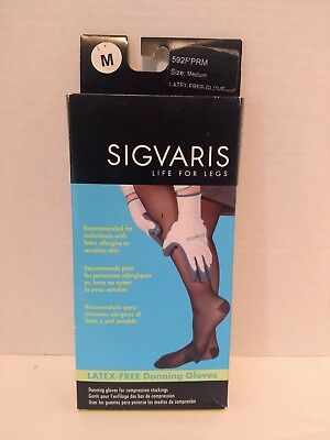 Sigvaris Latex-Free Donning Gloves for Compression Stockings Size Med 592RPRM