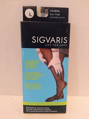 Sigvaris Latex-Free Donning Gloves for Compression Stockings Size Large 592RPRL