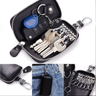 High-capacity Holder Ring Car Key Purse Genuine Leather Card Bag Coin Pouch