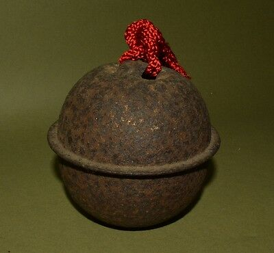 Japanese Bell Buddhism Asian Antique Japan Copper Old Shrine Temple Sound t56