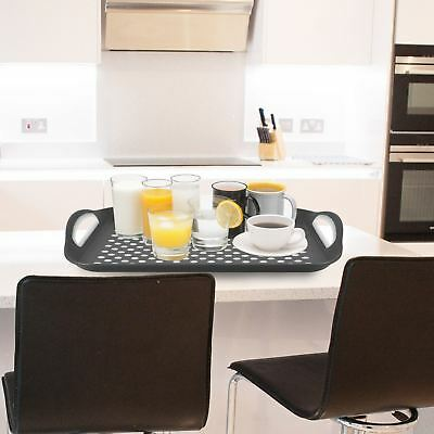 2x Anti Non Slip Food Serving Tray Plastic Rubber Gripper Top Bottom Surface