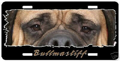 "Bullmastiff "" The Eyes Have It "" License Plate"