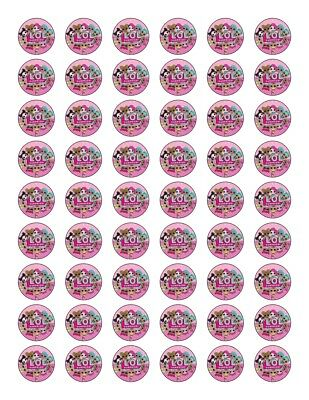 54 X Lol Suprise Edible Wafer/Fondant Paper Cup Cake Toppers