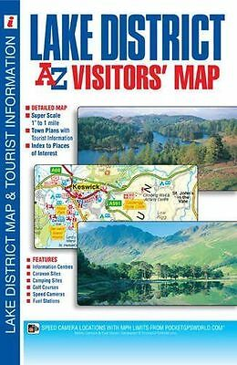 Lake District Visitors Map by Geographers' A-Z Map Company