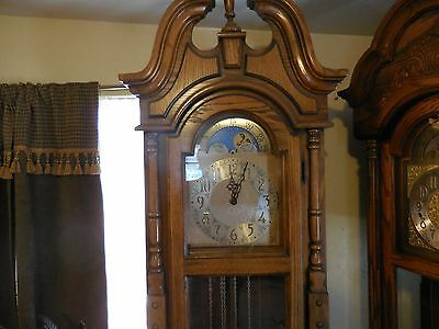 Ridgeway W2188 Chain-Driven Grandfather Clock GW West Germany Black Forest Works