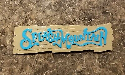 "12.5"" DW Splash Mountain Prop Replica Inspired Sign (Disney World Inspired Prop)"