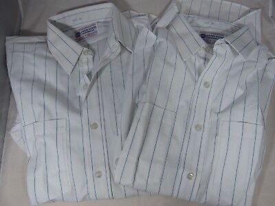 Lot of 2 United States Uniform Co Post Office Approved Long Sleeve Shirts 15 1/2