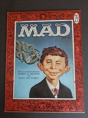 Mad #30 By Norman Mingo - 1st Alfred E. Neuman Cover