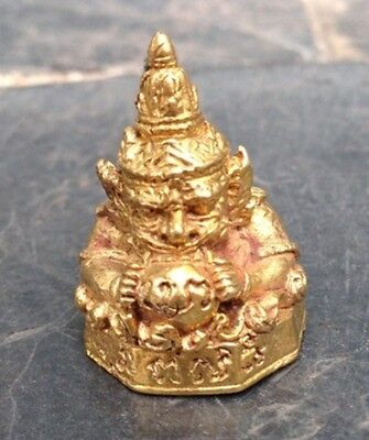 Phra Rahu Om Jan Thai Buddha  Amulet  Lucky,wealthy And Protection