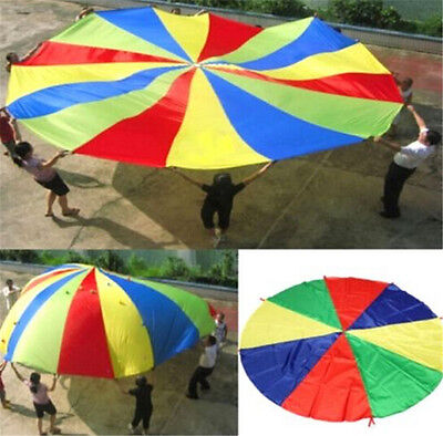 FD3448 Kids Play Jumpsack Rainbow Parachute Outdoor Game Exercise Sport Toy 2M ♫