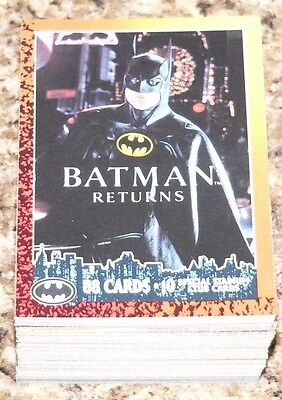 Batman Returns OPC 1992.  89 cards & 10 (A-J) insert cards