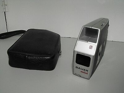 Rare Bauer Mini Super-8 Hand Held Camera Working Condition Suit Collector