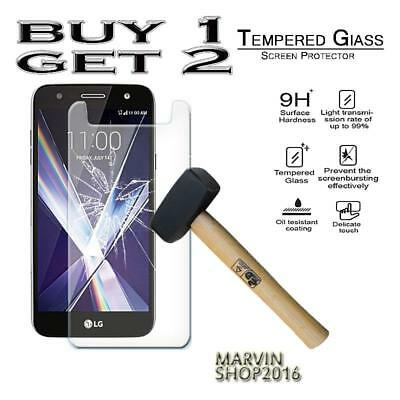 Genuine Tempered Glass Film Screen Protector Cover For LG X Charge