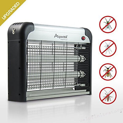 UPGRADED - Aspectek 20W Electronic Bug Zapper, Insect Killer - Mosquito, Fly, Mo