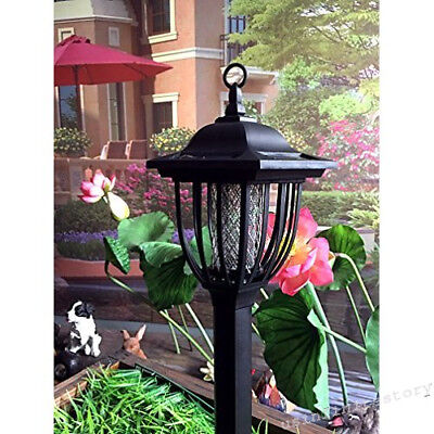 Solar Powered Electric Bug Light Zapper- Outdoor Cordless Flying Insect Killer-
