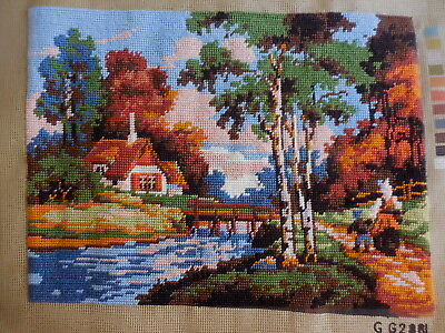 Tapestry G G2881 Completed House On River This Is Not Framed