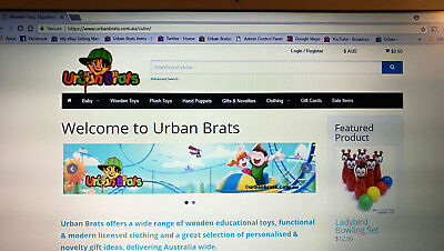 Urban Brats Online Kids Clothing and Toy Store including Stock and Market Setup