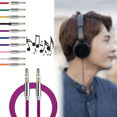 3.5mm Male to Male Stereo Jack Audio AUX Auxiliary Cable Cord For Phone iPod Car