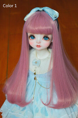 """New 1/3 1/4 1/6 BJD SD DD doll wigs 6""""-7"""" 7""""-8"""" 8""""-9"""" long curly hairs 10 colors"""