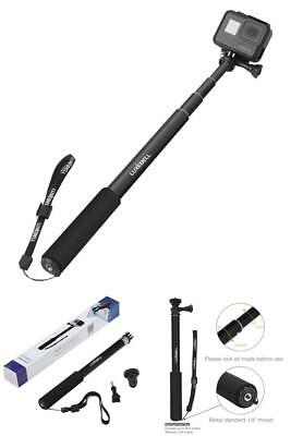NEW GoPro Hero 5 Sessions Selfie Stick Adjustable Telescoping Monopod Pole Black
