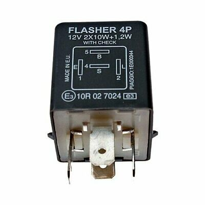 Relay Flasher Original with Piaggio Check for Ape Mix 2T 50 - 1998