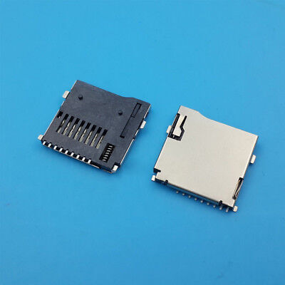 1/10Pcs PCB Surface Mount Push-out Flip Type TF Micro SD Memory Card Socket