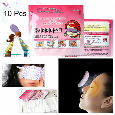 10Pcs Self-Heating Warm Eye Mask Self-Heating Steam Sleeping Relaxing Eye Mask