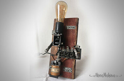 Lampe unique vintage design steampunk industriel eur 85 for L or du temps meuble industriel