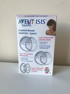 AVENT Philips Isis Naturally Comfort Breast Shells 6 Piece Set 2 Pairs BRAND NEW