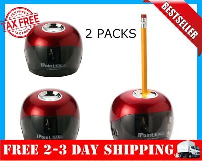 Pencil Sharpener Battery Powered Electric School Office Home Black Automatic Red