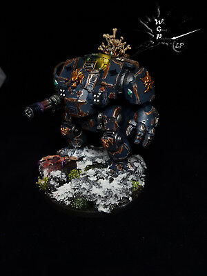 Primaris Redemptor Dreadnought Space Wolves Modded Painted Warhammer 40K