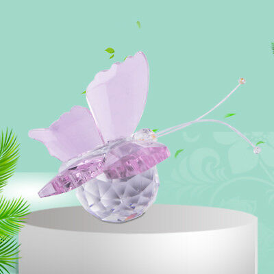 Crystal Butterfly Paperweight Glass Wedding Decoration Ornament Collectible Gift