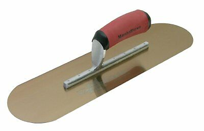 "Marshalltown 14 X 4"" Golden Stainless Steel Pool Trowel"