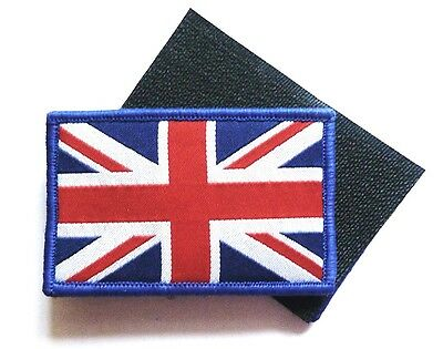 BRITISH UNION JACK CLOTH BADGE sew on waving flag patch jacket GB red white blue