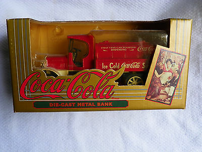 1994 Coca Cola Die Cast Metal Bank Tanker Delivery Truck