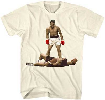 Muhammad Ali Red Gloves Full Color Over Liston Adult T Shirt Boxing Champ