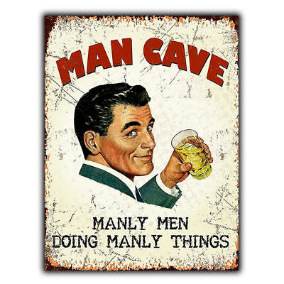 Vintage Retro Style Metal Wall Sign Plaque Man Cave Garage Shed Gift Present